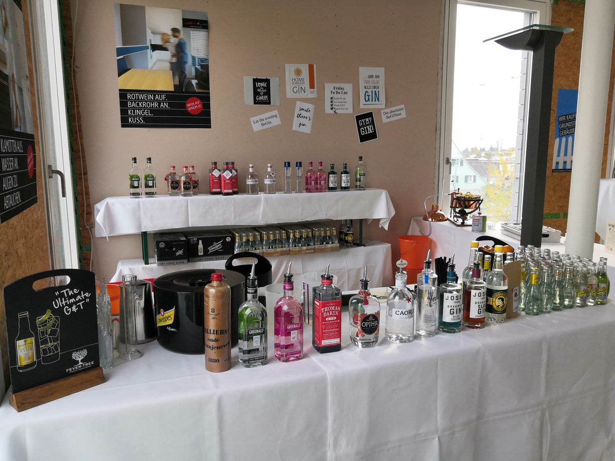 Gin und Tonic pop up Bar Catering